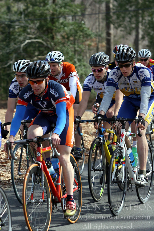Mark Hardman in the pack of the Men's A road race at William and Mary.  Hardman was the 2006 USCF Collegiate Cycling National Champion.