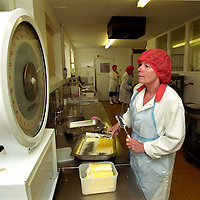 Photo: Steve Forrest/Insight.date: June 2003..Rodda Creamery at Scorrier in Cornwall - the largest producer of clotted cream in the UK