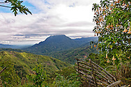 A dramatic vista of Kinabalu Park, a UNESCO world heritage site in Sabah, Malaysian Borneo.