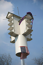 Purple martin bird house.