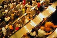 People on Escalator, World Trade Center, Twin Towers, World Financial Center, Manhattan, New York CIty, New York