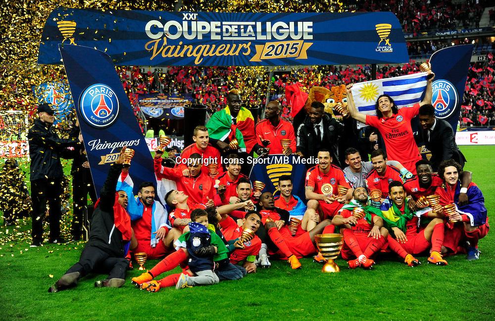 Victoire du PSG   - 11.04.2015 -  Bastia / PSG - Finale de la Coupe de la Ligue 2015<br />Photo : Dave Winter / Icon Sport