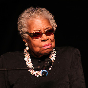 Living legend Dr. Maya Angelou addresses the audience at the Bob Carpenter Center Friday, Feb 22, 2013 in Newark Delaware.