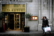 UK. London. Shoppers walk past the Atlantic Bar in Central London..Photo©Steve Forrest/Workers' Photos.
