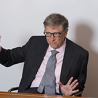 Bill Gates in London. October 26th 2016. Photo by Lionel Derimais