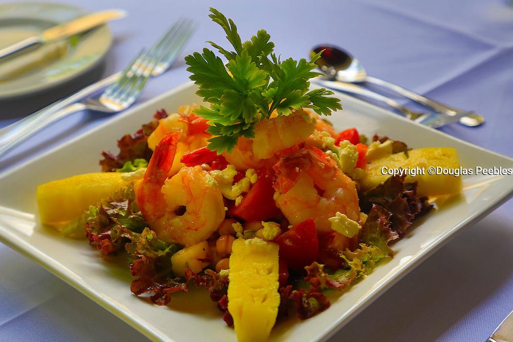 Shrimp salad, Matangi Private Island Resort, Fiji