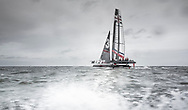 Pictures of the Ben Ainslie Racing americas cup team out in action today on their new T1 foiling catamaran<br /> Credit: Mark Lloyd/Lloyd Images
