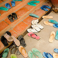 Young women's footwear at Tom Dy, an aftercare facility for victims of human trafficking.