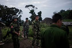 Mai Ja Yang 20160912<br /> K.I.A. rebells at Lagat Bum, a frontline outpost near Mai Ja Yang in Kachin State, Myanmar.<br /> Photo: Vilhelm Stokstad / Kontinent