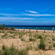 &quot;Sand and Blue&quot;<br /> <br /> Dreamy Blue scene at Glen Haven Michigan gazing out onto Lake Michigan!!<br /> <br /> The Great Lakes by Rachel Cohen