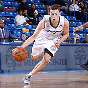 Reno Bighorns Guard David Stockton (11) drives the lane in the second half of a NBA D-league regular season basketball game between the Delaware 87ers and the Reno Bighorns (Sacramento Kings), Tuesday, Feb. 10, 2015 at The Bob Carpenter Sports Convocation Center in Newark, DEL