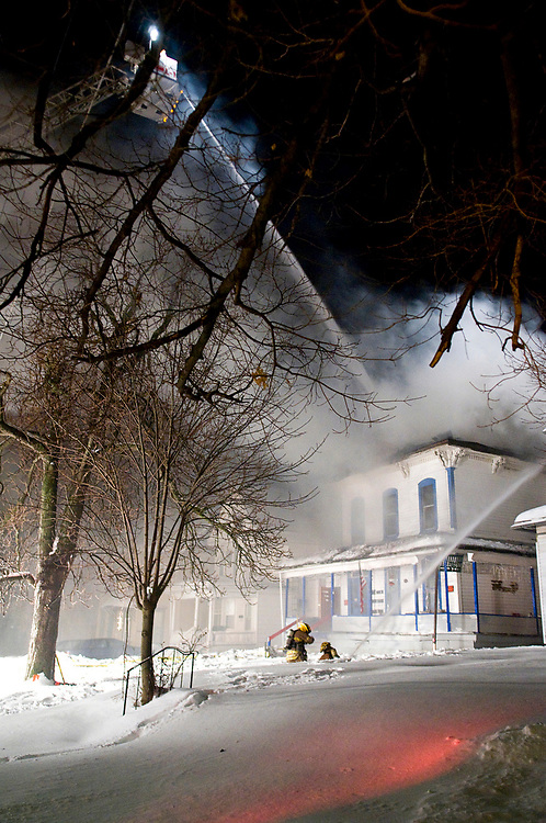 No one was injured in a structure fire at 111 West 2nd Street on Saturday, January 31, 2009.