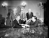 1976 - Petroleum exploration licences signed at Iveagh House, Dublin