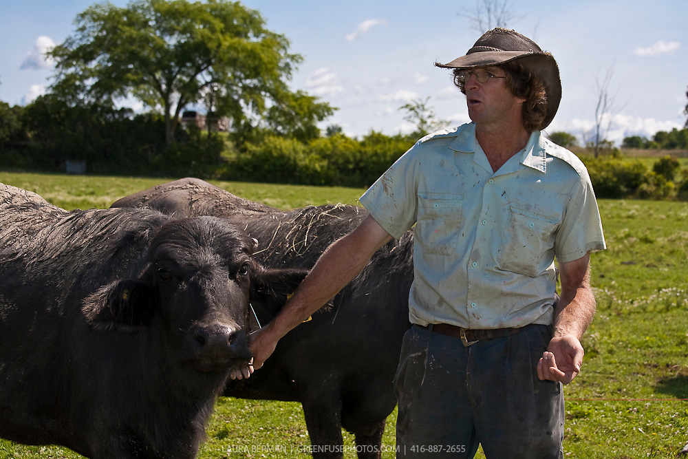 Martin Littkemann and Lori Smith, of the Ontario Water Buffalo Company in Stirling Ontario.