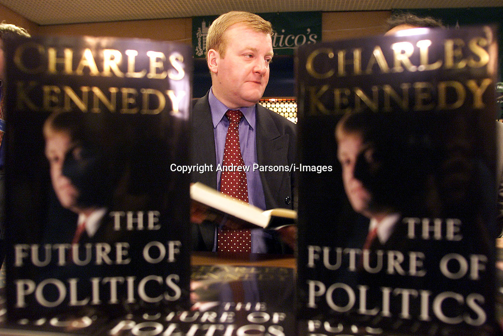 Liberal Democrats Conference..Charles Kennedy at his book signing for new book 'The Future of Politics' .Photo by Andrew Parsons/i-Images..