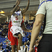Delaware 87ers Guard RUSS SMITH (5) drives towards the basket in the second half of a NBA D-league regular season basketball game between the Delaware 87ers and the Raptors 905 Friday, Jan. 15, 2016. at The Bob Carpenter Sports Convocation Center in Newark, DEL.