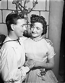 """1952 Cast members in  O'Connell School Musical and Dramatic Society Presentation of """"Runaway Girl"""""""