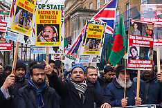2015-02-10 Save Bangladesh in London demo against political violence.