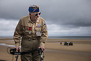 "D-Day veteran, Clarence ""Mac"" Evans, 87 y/o, 29th division, 116th infantry regiment, on Omaha Beach."