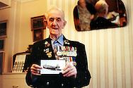 Albert Rogers in his London flat, British D-Day veteran