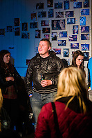 Preview evening of the new play by Dave Windass and Morgan Sproxton 'Euphoria' at Fruit, Humber Street, Hull, 12 September 2012.