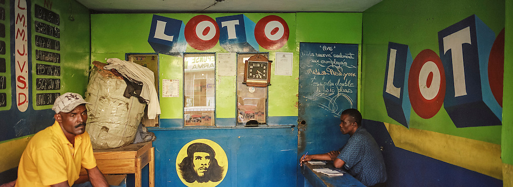 A lottery office on Monday, December 22, 2014 in Port-au-Prince, Haiti.