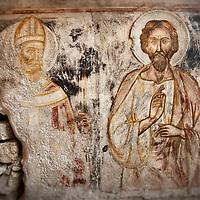 Old worn fresco in Amalfi, Italy.