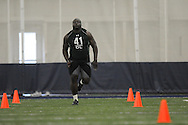 Mississippi football player Jerrell Powe at Pro Day in the IPF in Oxford, Miss. on Tuesday, March 22, 2011.