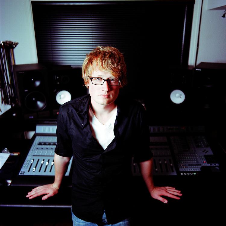 ANCHORAGE, ALASKA - 2010: Music producer Erik Braund.