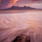 The island of Rum as seen from the Isle of Eigg inthe Scottish Highlands