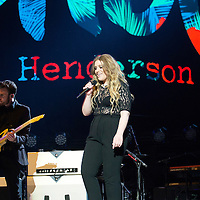 Ella Henderson performs as she supports Take That on the opening night of their tour at The SSE Hydro on April 27, 2015 in Glasgow, Scotland.