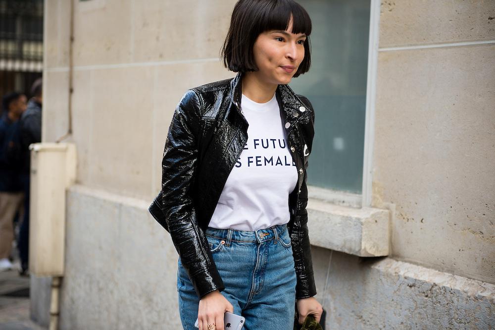 "Otherwild ""the Future is Female"" Shirt, Outside Balmain FW2017"