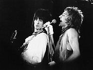 FACES ROD STEWART RON WOOD June 1973..© Chris Walter..