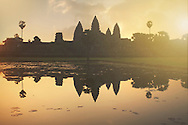 Sunrise at the UNESCO heritage site, Angkor Wat. This area is steeped in mystery as archaeologists have much to learn about the ancient Khmer civilization and the details of their temple ruins.