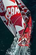 CAMPER with Emirates Team New Zealand. sailing on the Hauraki Gulf. 19 /4/2011