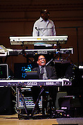 """Greg Phillinganes and Herbie Hancock at Herbie Hancock's """"Seven Decades: The Birthday Celebration"""" at Carnegie Hall. June 24, 2010"""