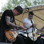 The Gaslight Anthem featuring Brian (Coco) Fallon (lead vocals, guitar), Alex Rosamilia (guitar, backing vocals), Alex Levine (bass, backing vocals), and Benny Horowitz (drums, percussion, tambourine) performs during the second day of the 2010 Bonnaroo Music & Arts Festival on June 10, 2010 in Manchester, Tennessee. The four-day music festival features a variety of musical acts, arts and comedians..Photo by Bryan Rinnert
