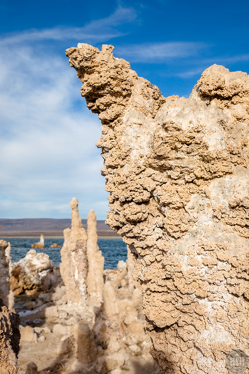 """Tufas at Mono Lake 8"" - These tufas were photographed at the South Tufa area in Mono Lake, California."
