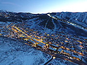 SHOT 3/2/17 6:46:36 PM - Aerial photos of Park City, Utah. Park City lies east of Salt Lake City in the western state of Utah. Framed by the craggy Wasatch Range, it's bordered by the Deer Valley Resort and the huge Park City Mountain Resort, both known for their ski slopes. Utah Olympic Park, to the north, hosted the 2002 Winter Olympics and is now predominantly a training facility. In town, Main Street is lined with buildings built primarily during a 19th-century silver mining boom that have become numerous restaurants, bars and shops. (Photo by Marc Piscotty / © 2017)