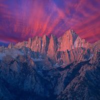 USA, Sierra Nevada, California, Mount Whitney, (m)