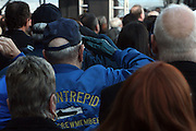 Veterans salute at The 2008 Veterans Day  Ceremonies at the Intrepid Sea, Air, & Space Musem on November 11, 2008 in NYC