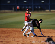 Mississippi's Alex Yarbrough vs. Oakland in Oxford, Miss. on Friday, February 26, 2010. Ole Miss won 9-1.