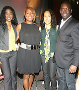 l to r: Ananda Lewis, Queen Latifah, Gina Bythewood, and Stacy Spikes at A Conversation with a Queen presented by the 2008 Urbanworld Film Festival and BET Networks at The Directors Guild of America in NYC on September 13, 2008