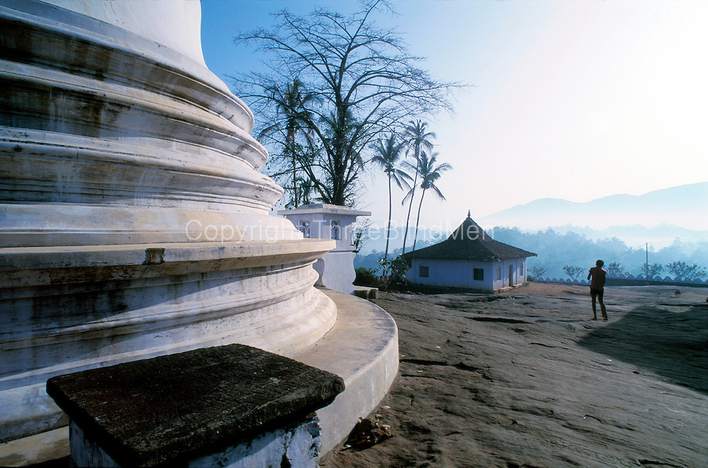 Morning at Lankatileka temple, a few kilometres out of Kandy town.