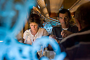 The Ghan.  Passengers at the Queen Adelaide Restaurant aboard the Ghan.  Near Newcastle Waters approximately 450kms south of Katherine, Northern Territory, Australia. Image © Arsineh Houspian/Falcon Photo Agency.