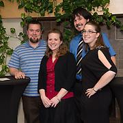 Leslie Bradbury, second from left. Class of 2013 dinner.