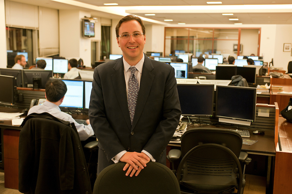 Rob Goldstein, Head of BlackRock Solutions, in the department for Risk Management and Portfolio Liquidation....BlackRock headquarters on 52nd street in Manhattan, New York City..Blackrock is the world's largest money managing company. According to Fortune magazine 'With more than $3 trillion in assets, Larry Fink and his team at BlackRock are the world's largest money managers'.