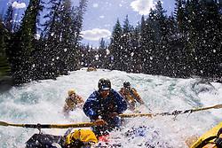 Whitewater rafting on the Chilko River. British Columbia, Canada.