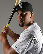 GLENDALE, ARIZONA - FEBRUARY 27:  Jose Abreu #79 of the Chicago White Sox poses for a portrait during photo day on February 27, 2015 at Camelback Ranch in Glendale Arizona.  (Photo by Ron Vesely)    Subject:  Jose Abreu