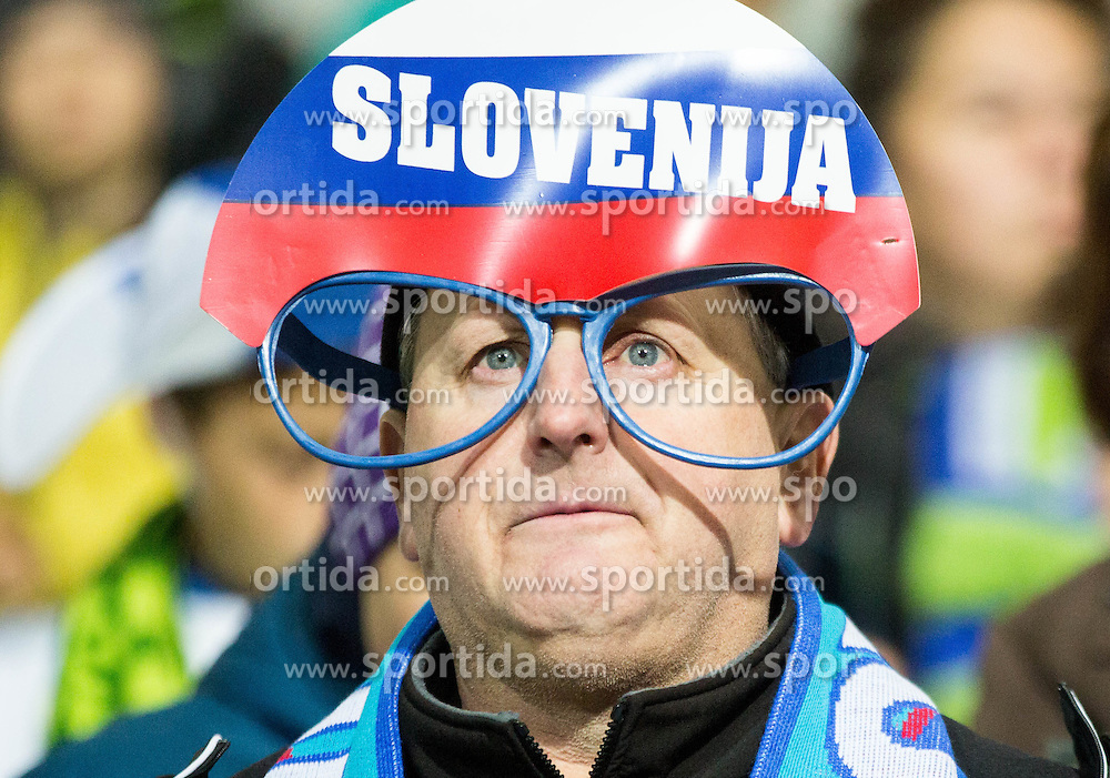 Supporters of Slovenia during the UEFA EURO 2016 Play-off for Final Tournament, Second leg between Slovenia and Ukraine, on November 17, 2015 in Stadium Ljudski vrt, Maribor, Slovenia. Photo by Vid Ponikvar / Sportida